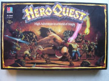 Hero Quest board Game ( MB  )  1989